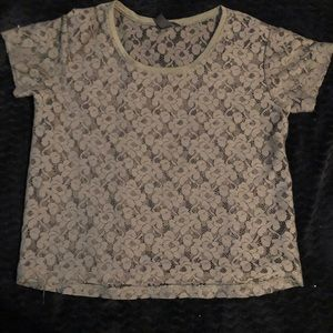 Army green lace top